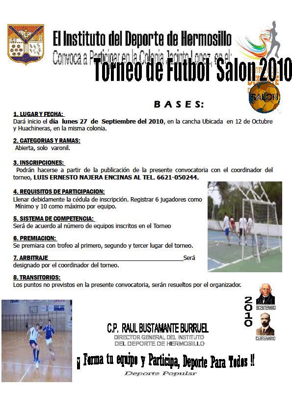 CONVOCATORIA: Futbol de Salón-Jacinto López